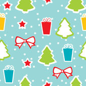 Seamless winter pattern, Christmas — Stock Vector