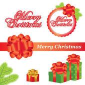Vector Christmas elements — Stock Vector