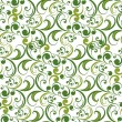 Vector green seamless pattern — Stock Vector
