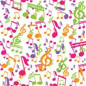 Vector seamless pattern with music notes — Stock Vector