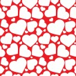 Vector seamless pattern of heart — Stock vektor