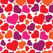Vector seamless pattern of heart — ストックベクター #17481659