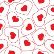 Vector seamless pattern of heart — Stock Vector