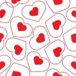 modèle sans couture vecteur du coeur — Vecteur