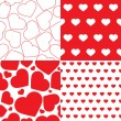 Vector seamless pattern of heart — Vector de stock