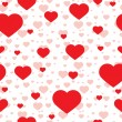 Vector seamless pattern of heart — Vector de stock #17481837