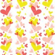 Seamless pattern of heart — Stock Vector