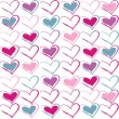 Seamless pattern of heart — Wektor stockowy #17980355