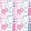 Seamless pattern of love — Stock Vector