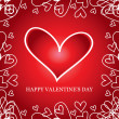 Royalty-Free Stock Vektorový obrázek: Valentine\'s day card, vector background heart