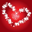 Stockvector : Vector background heart