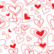 Royalty-Free Stock Vektorfiler: Vector seamless pattern of heart