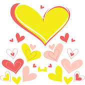 Vector achtergrond hart — Stockvector