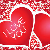 Vector banner with a heart, I love you — Stock Vector