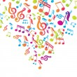 Vector musical notes vector background — Stock Vector