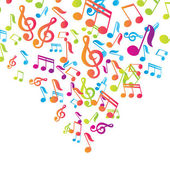 Sfondo di vettore vector note musicali — Vettoriale Stock