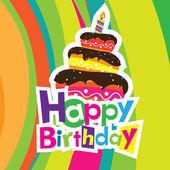 Tarjeta del feliz cumpleaños vector — Vector de stock