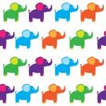 Seamless set of elephants — Stock Vector #19337305
