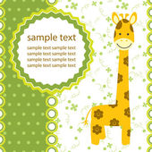 Vector background with giraffe — Stock Vector