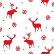 Stock Vector: Vector seamless winter pattern with deer