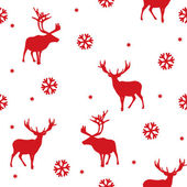 Vector seamless winter pattern with deer — Stock Vector