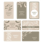 Vintage retro business cards — Stock Vector