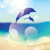 Vector Dolphins — Stock Vector