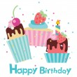 Vector happy birthday card — Stock Vector #21239235