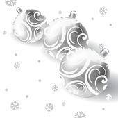 Vector Christmas card with Christmas balls — Stock Vector