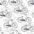 Vector seamless pattern bicycles — Stock Vector #23013682