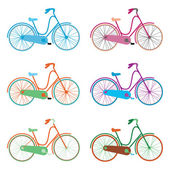 Vector seamless pattern bicycles — Stock Vector