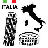 Vector elements of Italy — Stock Vector