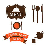 Vector menu items — Stock Vector