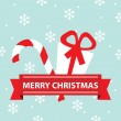 Vector Merry Christmas card — Imagen vectorial
