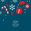 Vector Merry Christmas card — Stock Vector