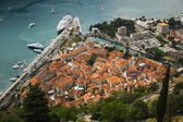 Montenegro, Kotor old town and Boka Kotorska bay — Stock Photo
