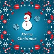 Merry Christmas banner vector — Stock Vector
