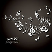 Vector musical notes vector background — Stock Vector