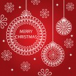 Merry Christmas vector card — Stock Vector #31040273
