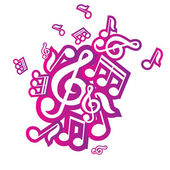 Vector illustration of musical notes — Stock Vector