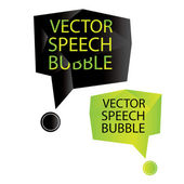Vector speech bubble origami — Vettoriale Stock