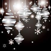 Vector nieuwjaarskaart met kerstversiering — Stockvector