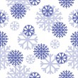 Stock Vector: Vector seamless pattern with snowflakes