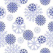 Vector seamless pattern with snowflakes — Vettoriale Stock