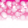 Stock Vector: Vector abstract background with snowflakes
