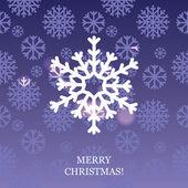 Vector abstracte kerstmis achtergrond met sneeuwvlokken — Stockvector