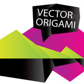 Vector abstract background origami — Stock Vector