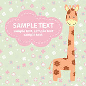 Vector illustration with giraffe — Stockvektor