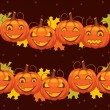 Stock Vector: Vector seamless background Halloween pumpkin
