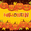 Stock Vector: Vector banner halloween pumpkin